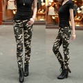 2016 high quality Fashion Womens Camouflage Pants Women's Army Cargo Pencil Pant Cotton Waist Skinny Trousers For Women