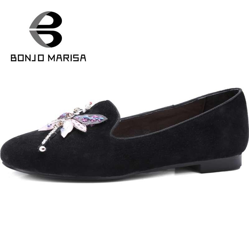 ФОТО BONJOMARISA Women Animal Print Shoes Woman Slip On Summer Spring Dress Flats 2017 Big Size 32-43 School Girl Ladies Flat Shoes
