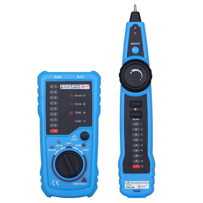 FWT11 RJ11 RJ45 Network Cable Tester Detector Telephone Wire Tracker LAN Cables Tracker Detector Line Finder
