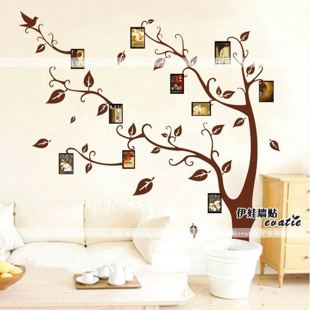 DHL Free Shipping 100pcs/lot+Wholesale Wallpaper Removable Memory PVC Wall  Stickers Tree For Part 5