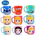 Los niños de Disney con cubierta casa bebiendo Copa boca cepillado taza lindo bebé de dibujos animados taza de leche de la gota