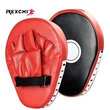 REXCHI 2 PCS Kick Boxing Gloves Pad Punch Target Bag Men MMA PU Karate Muay Thai Free Fight Sanda Training Adults Kids Equipment(China)