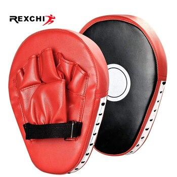 REXCHI, 2 шт., перчатки для кикбоксинга, коврик, ударная мишень, сумка для мужчин, ММА, ПУ, каратэ, Муай Тай, свободный бой, Санда, обучение, для взрослых, детское оборудование, для мужчин