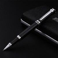 PROMSPLAND Brand Duke Roller Ball Pen D2 Black Pens Silver Clip Rollerball Luxury Metal Pen Writing