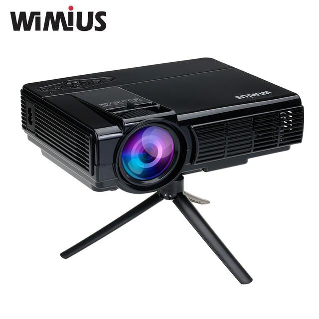Wimius T3 1200 Lúmenes Full HD LED proyector Protable Mini Pequeño de Cine En casa con el Control Remoto 800*480 AV/VGA/USB/SD/HDMI