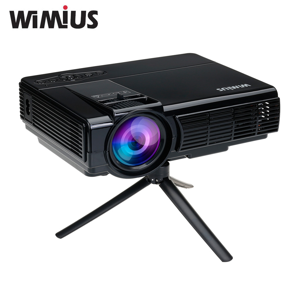 Wimius t3 1200 lumens full hd led projector protable mini for Smallest full hd projector