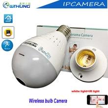 WTHUNG 2MP 1080P Wireless wifi IP Camera Bulb Light FishEye 360 Degree 3D VR Mini Panoramic detector Camera IP bulb iCsee XMeye
