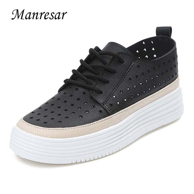 Shoes For Women Patent Leather Platform Creepers Round Toe Fashion Sneakers Outdoor Casual Black White