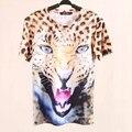 3D футболка Платье Женщины Топы Лето Стиль Печати животных Harajuku Тигр Леопарда Печатных Майка Топ Женщин Плюс размер
