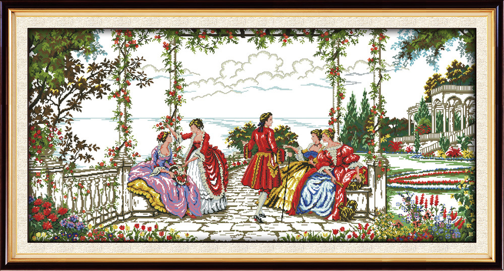 Joy Sunday The noble life in garden cross stitch pattern kits handcraft make embroidery with chart
