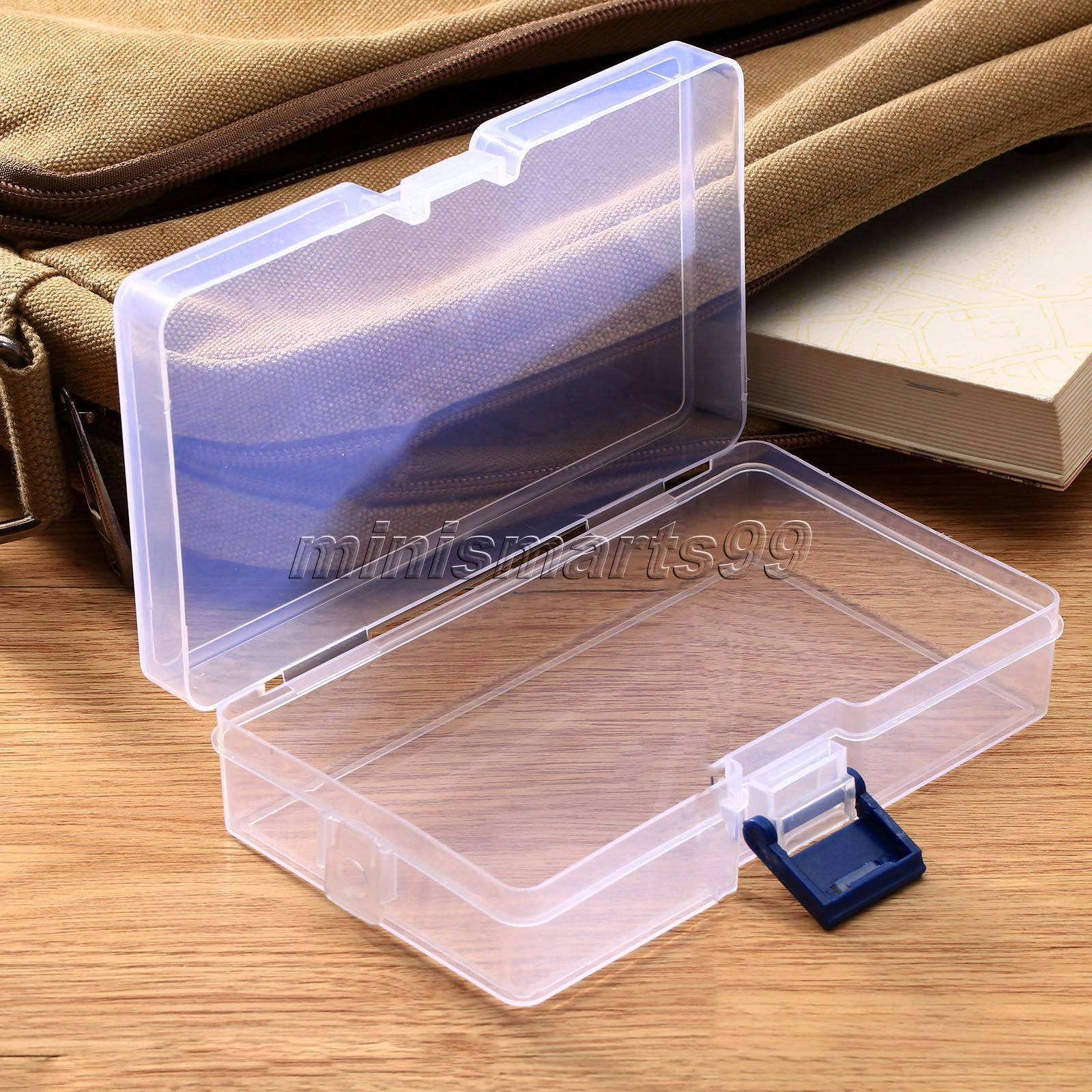 Transparent Clear Plastic Storage Box Cosmetics Jewelry ...