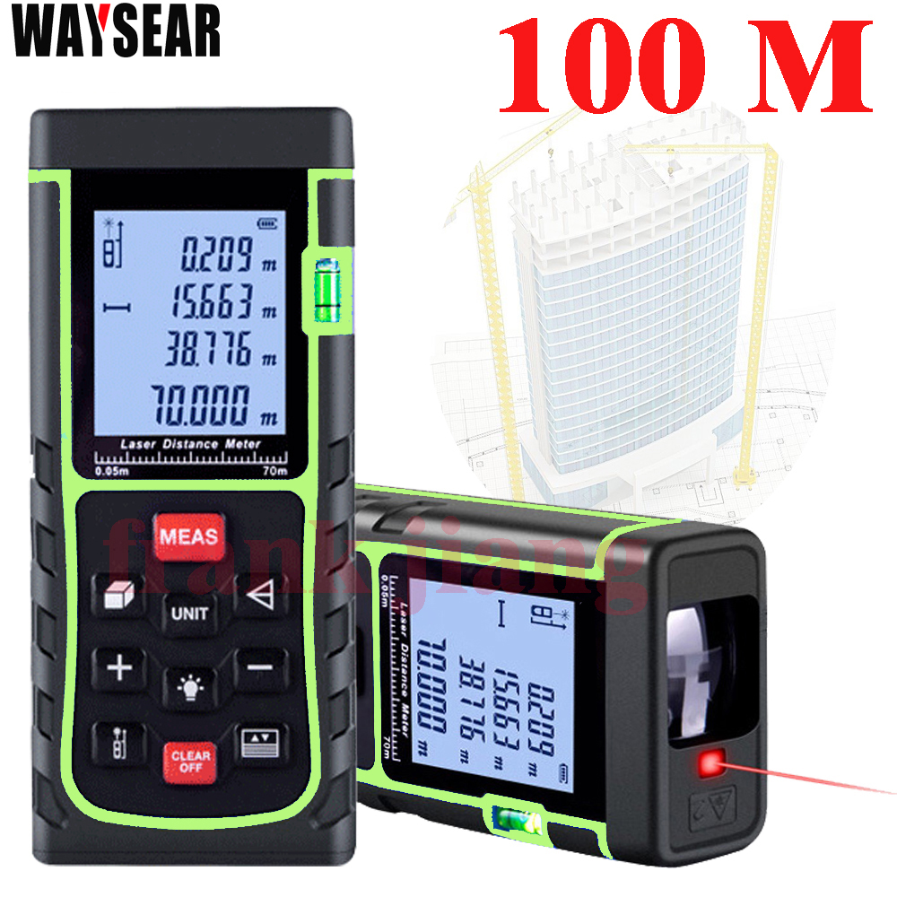 NEW Laser Rangefinder 40m/50M/60M/70M/80M/100M Distance Meter Digital Laser Range Finder Tape Area-volume-Angle Tester tool high quality new gm100d photoelectric laser distance meter volume tester 100m range finder