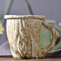European Style Ceramic Mugs Creative Pattern Personalized Coffee Cup With Covered Spoon Tea Cup Breakfast Milk Cup