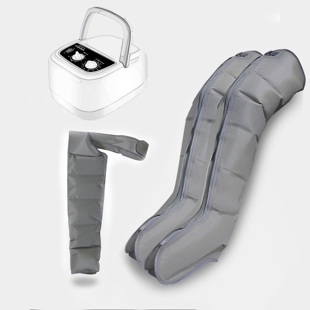 6 Cavity Electric Air Pressure Leg Massager Calf Varicose Veins Therapy Device Automatic Cycle Relax Giver