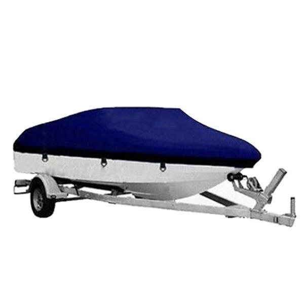 17 18 19ft pêche lourde Ski Bass v-hull remorque bateau couverture étanche pour hors-bord couverture 600D bleu