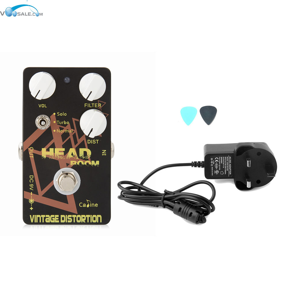 Caline CP-34 Vintage Distortion Guitar Effects Pedals with Ture Bypass+AC100V-240V to DC9V/1A Adapter Use Have AU UK US EU Plug caline cp 10 hot mushroom compressor digital guitar effects pedal ac100v 240v to dc9v 1a adapter use have au uk us eu plug