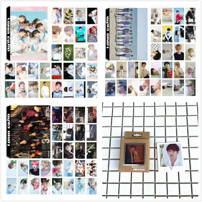 30Pcs/Set KPOP Seventeen Team 3 Album Collection Love Letter HD Photo Card PVC Cards Self Made LOMO Card Photocard