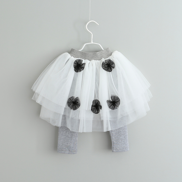 Toddler Girls Princess Ball Gown Skirts For 2017 Spring Summer Baby Kids Mesh Pantskirt Clothes Children Clothing 6pcs/LOT