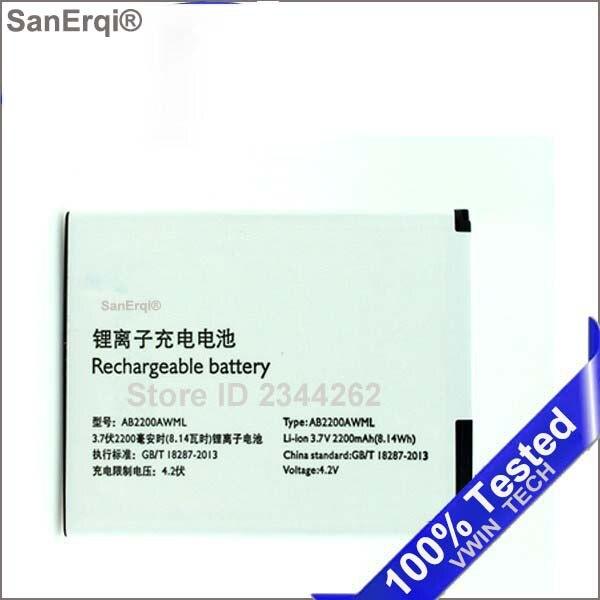 SanErqi Pour Philips T3500 W3500 W3509 Batterij Bateria AB2200AWML 2200 mAh Téléphone Batterie