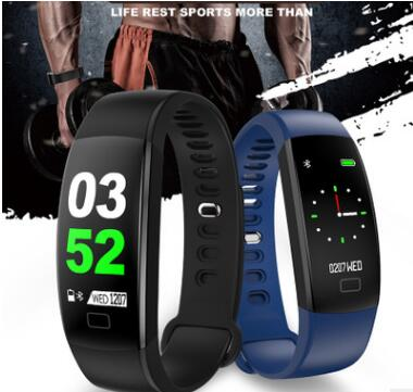 F64 Smart Bracelet band Fitness Tracker Wristband Blood Pressure Heart Rate Monitor With Pedometer Bracelet For Android IOS in Smart Wristbands from Consumer Electronics
