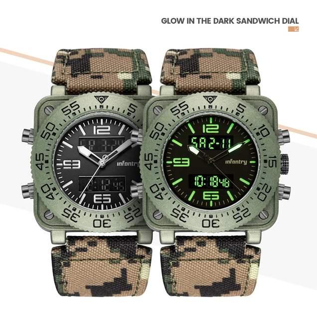 d59d375c39a INFANTARIA Militar Assista Men Quartz Digital relógio de Pulso Mens  Relógios Top Marca de Luxo Grande