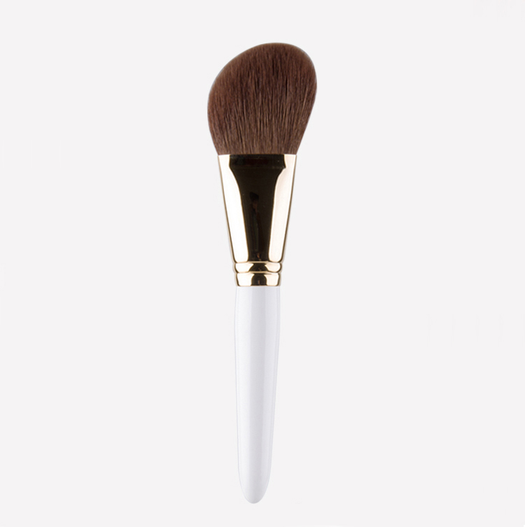 ShouShouLang B301 Professional Makeup Brushes Soft Goat Hair Powder Brush White Handle Cosmetic Tool Make Up Sculpting Brush professional bullet style cosmetic make up foundation soft brush golden white