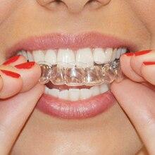 Genkent, 2 пары, Термоформовочная зубная каппа, отбеливающий противень для зубов, отбеливающий для зуб, отбеливающий, Защита рта, гигиена полости рта