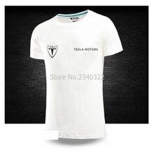3f5c4b980 Summer car 4S shop tooling car club Tesla motors T-shirt male size DIY logo