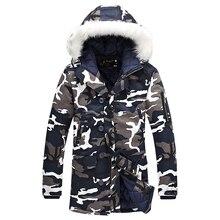 2016 winter Mode camouflage parkas männer military Kleidung winterjacke männer mit fell kapuze freies verschiffen größe M-5XL