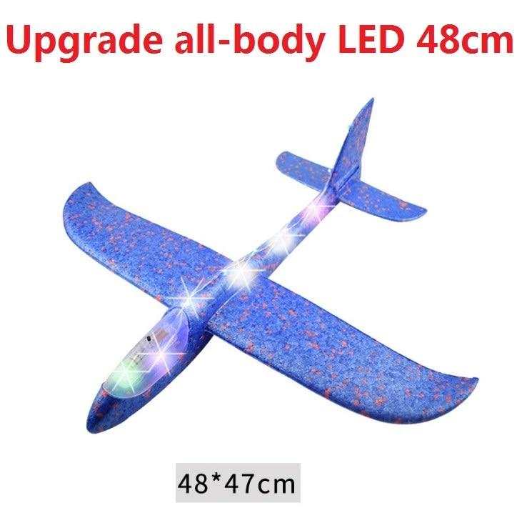 Avion en mousse EPP à inertie, jouet, modèle d'avion, amusant à l'extérieur, avec lancement à la main en LED, grande qualité, 48cm 2
