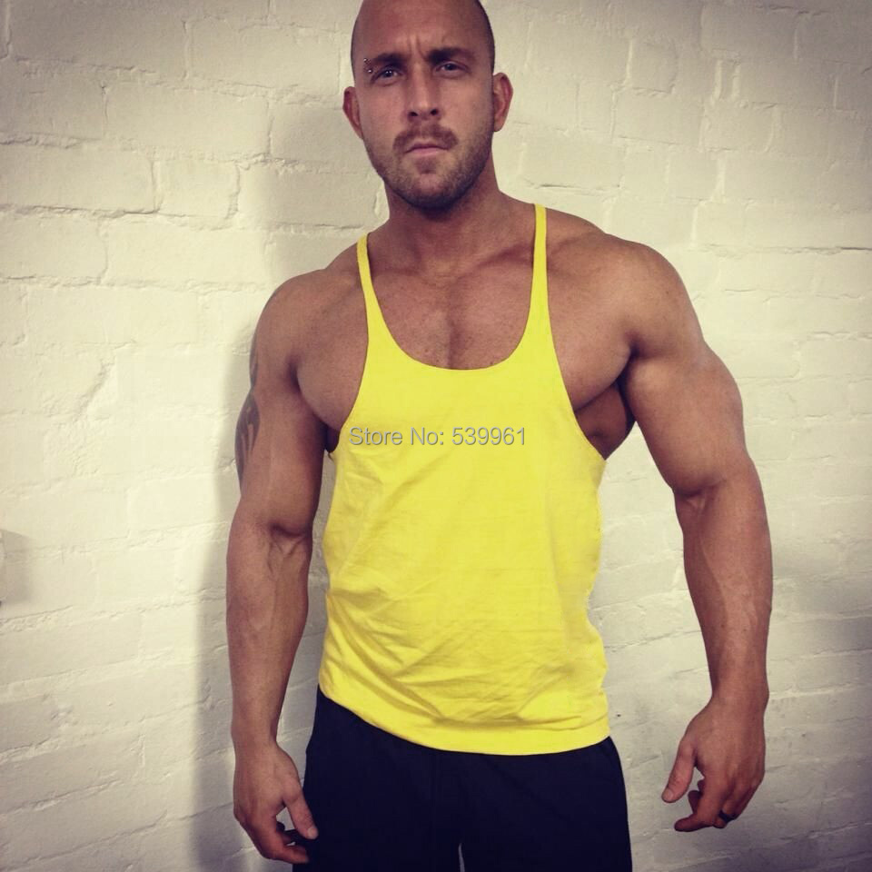 Buy fitness men tank top singlet Fitness shirts for men