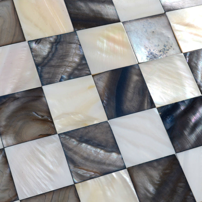 mother of pearl tile backsplash painted ranbei20 shell