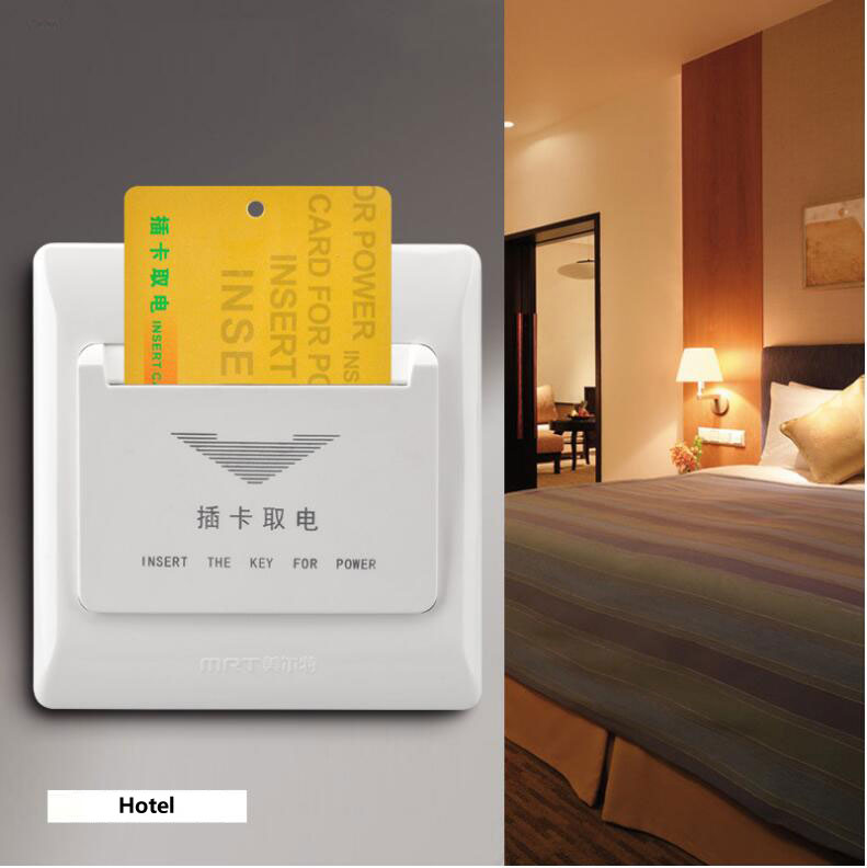 Hotel Energy Saving Switch Arbitrary card Insert for power two lines without time delay <font><b>220V</b></font> 4400W <font><b>20A</b></font> power socket image