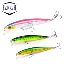 Купить с кэшбэком Minnow Fishing Lure 11cm 9g Laser Hard Artificial Bait 3D Eyes Wobbler Professional SwimBait Crankbait Minnows Pesca For Fishing