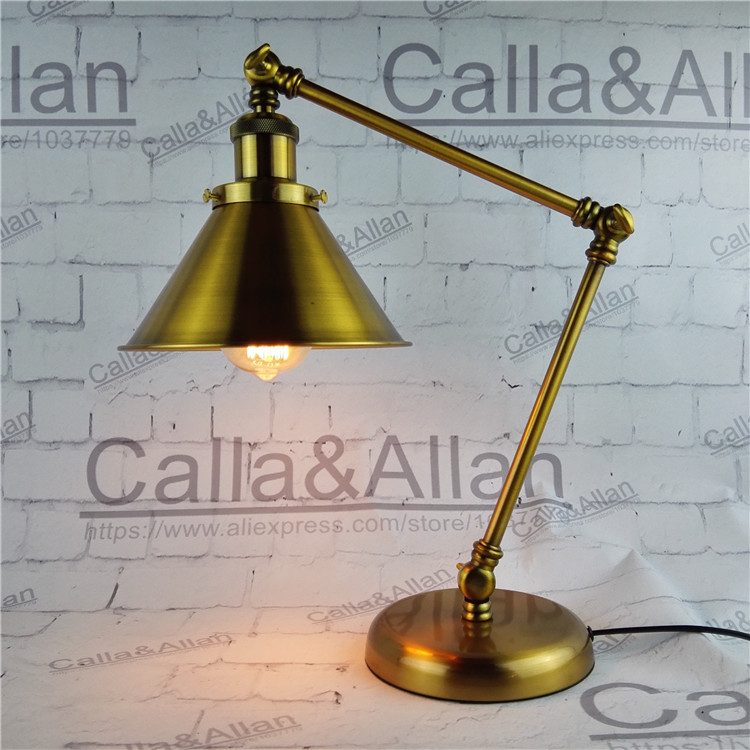 With switch and plug bedroom Bedside Lamp Retro learning creative fashion luxury brass bedside lamp hotel bookshop decorationWith switch and plug bedroom Bedside Lamp Retro learning creative fashion luxury brass bedside lamp hotel bookshop decoration