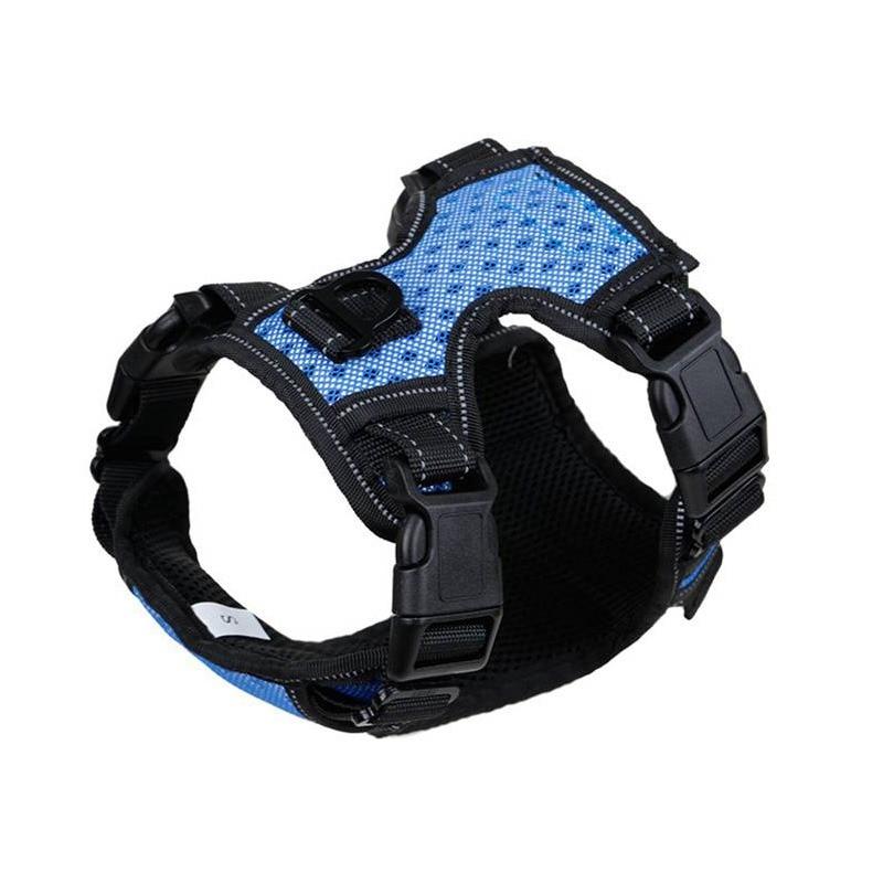 No Pull Reflective Dog Harness Vest Nylon Soft Padded Harness For Dog Small Medium Large Training Walking Blue Orange S M L