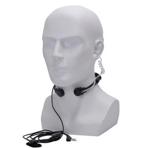 Image 4 - Walkie talkie fone de ouvido garganta microfone tubo acústico fone de ouvido ptt garganta microfone fone para baofeng uv5r uv82 VX 3R