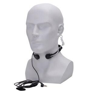 Image 4 - walkie talkie headset throat mic Acoustic Tube Earpiece Headset PTT Throat MIC Microphone Earphone For Baofeng UV5R UV82 VX 3R