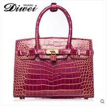 diwei 2017 new hot free shipping really crocodile skin bag women handbag leisure shoulder bag authentic bag big capacity men bag