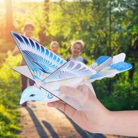 Remote Control Toy RC Animal Flying Bird Toy Plane Model LED 2.4GHz Outdoor Travel Play E Bird Ornithopter Toys for children