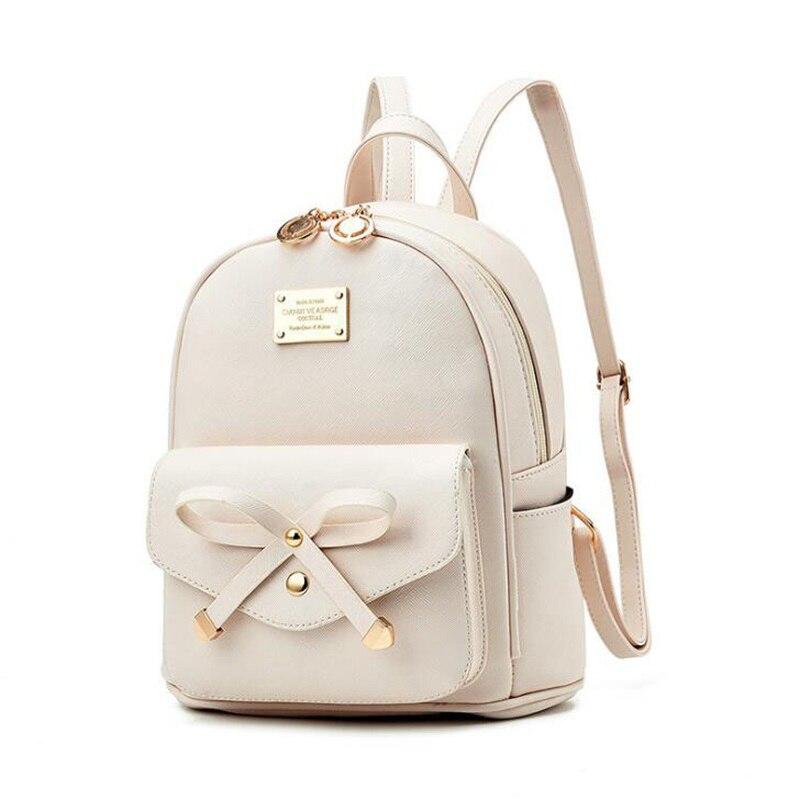 Image 2 - FGJLLOGJGSO Fashion Women Bag School Lady Backpack PU Leather small Student Shoulder Casual Female Backpacks Softback Bags SacBackpacks   -