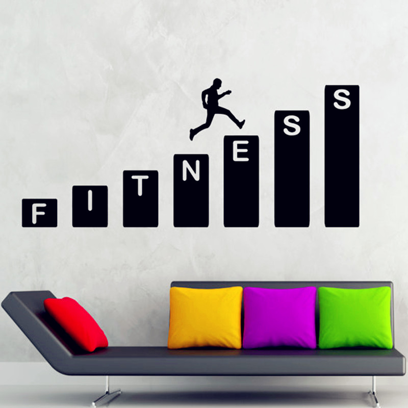 Delightful F5 Exercise Wall Sticker Gym Fitness Decal Art Decor Adhere To Enhance  Physical Fitness Gym Or