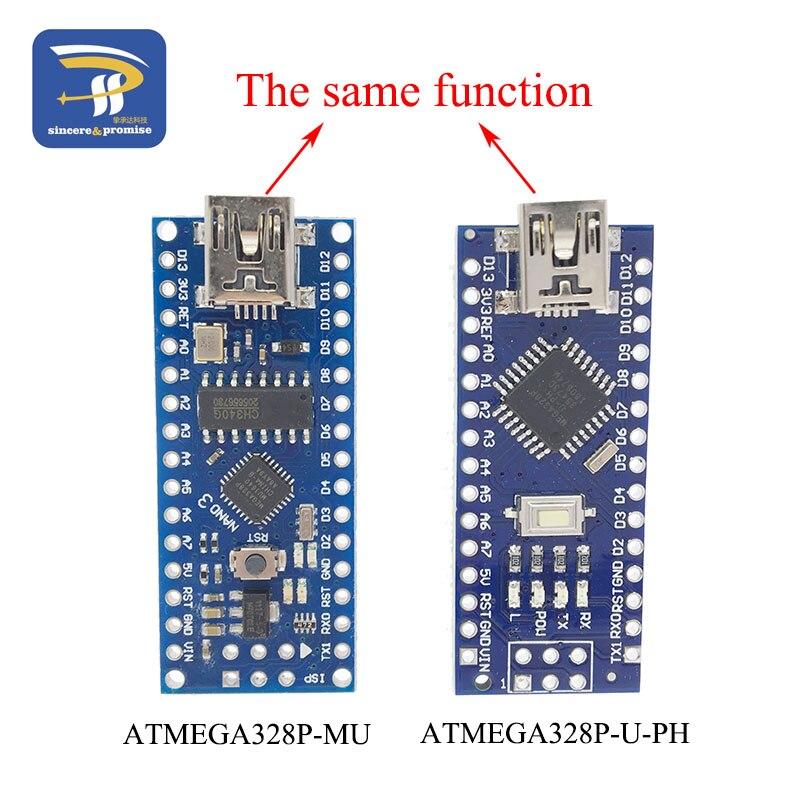 MINI USB Nano V3.0 ATmega328P CH340G 5V 16M Micro-controller Board For Arduino 328P NANO 3.0 CH340