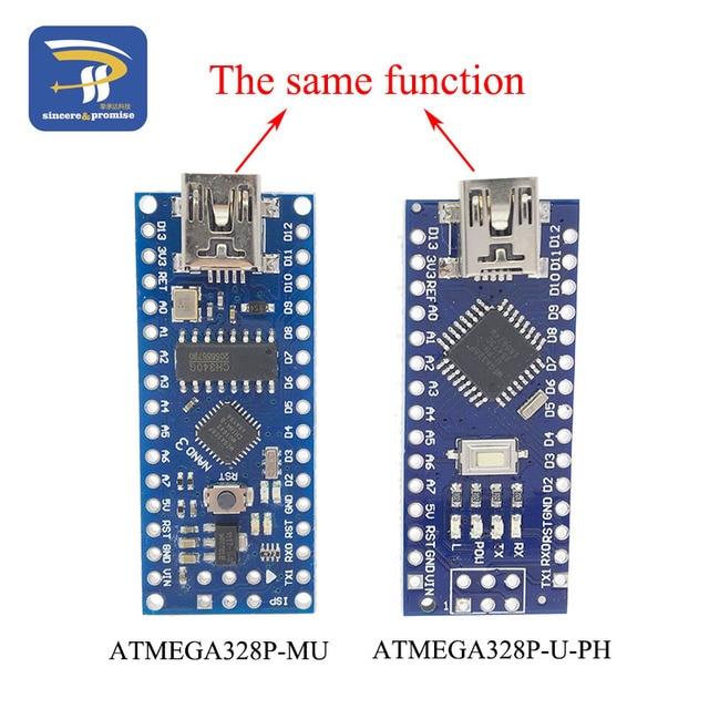 US $1 92  MINI USB Nano V3 0 ATmega328P CH340G 5V 16M Micro controller  board for Arduino 328P NANO 3 0 CH340-in Integrated Circuits from  Electronic