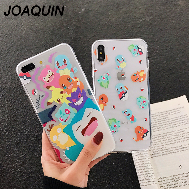 US $2 43 27% OFF|3D Cartoon animal Pikachue Case Silicone Ultrathin Anti  Knock transparent TPU Cover For iPhone 6 6S 7 8 Plus X XR XS MAX case-in