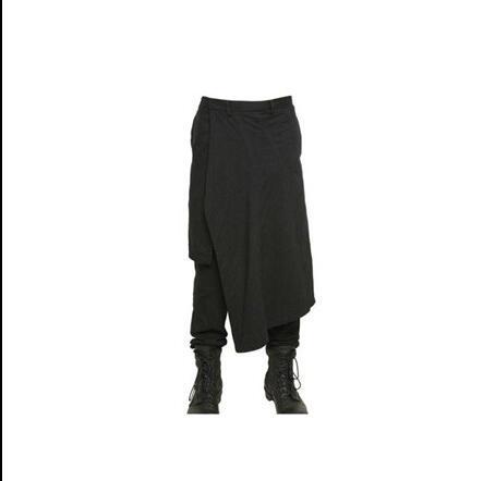 2017 hommes de Grands chantiers 27-44 printemps et automne casual pantalon  costume costumes de mode personnalité irrégulière faux deux culottes pièce c848b66393cd