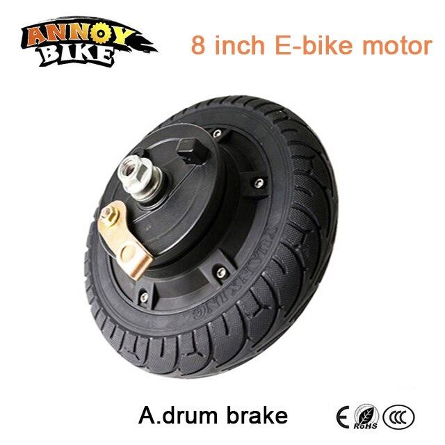 E vélo BLDC Hub Moteur 8 pouce 36 v 250 w 350 w Brouette roue hub moteur électrique vélo moteur scooter en fauteuil roulant moteur