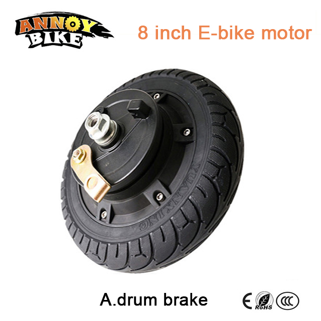 e bike BLDC Hub Motor 8 inch 36v 250w 350w Wheelbarrow wheel hub motor electric bike motor scooter wheelchair motor inflate free tyre 6 inch 24v 250w electric wheel motor dc hub motor e scooter motor electric e bike wheel motor