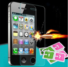 Premium 0 3mm 9H Tempered Glass Screen Protector For iPhone 4 4S Explosion Proof Clear Toughened