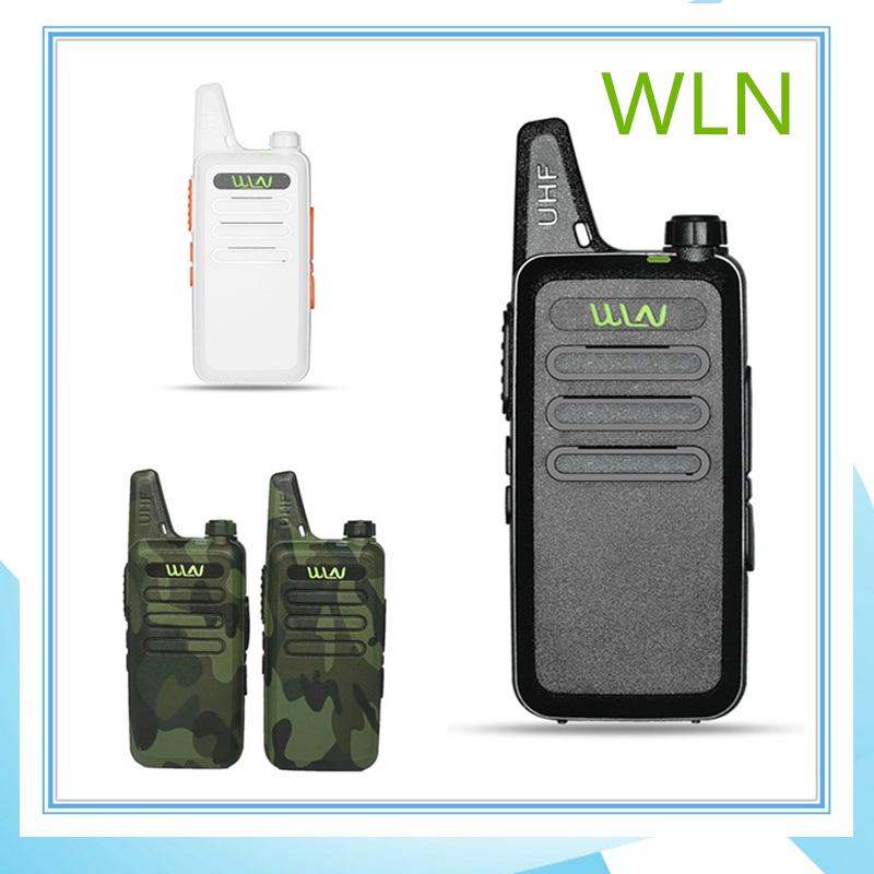 WLN KDC1 Mini Wiress Walkie Talkie UHF Handheld FM Transceiver Car Intercom Two-Way Radio Station Communicator Ham CB Radio
